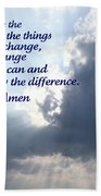 Serenity Prayer Beach Towel