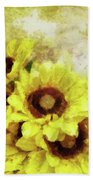 Serenity Sunflowers Beach Towel