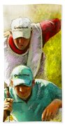 Sergio Garcia In The Madrid Masters Beach Towel