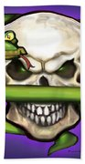 Serpent Evil Skull Beach Towel