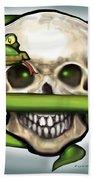 Serpent N Skull Beach Towel