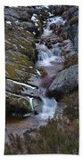 Serra Da Estrela Mountains And Waterfall Beach Sheet