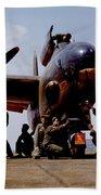 Servicing An A-20 Bomber Langley Field Va Beach Towel