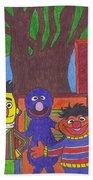 Children's Characters Beach Sheet