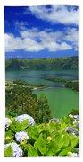 Sete Cidades Crater Beach Towel