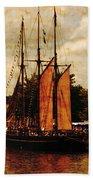 Setting Sail From Bristol Beach Towel