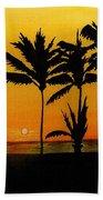 Setting Sun In The Tropics Beach Towel