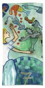Seven Of Cups And Strange Dreams Beach Towel