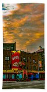 Seventh And Bleeker At Sunrise Nyc Beach Towel