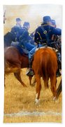 Seventh Cavalry In Action Beach Towel