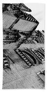 Seville - Giralda In Black And White Beach Towel