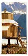 Seward Alaska House Of Stilts Beach Towel