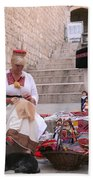 Sewing Souvenirs In Old Dubrovnik Beach Towel