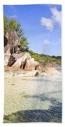 Seychelles Rocks Beach Towel
