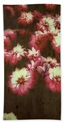 Shabby Chic Floral Design Beach Towel