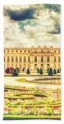 Shabby Chic Hdr Panorama Versailles Paris Beach Towel