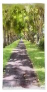 Shaded Walkway To Princeville Market Beach Towel