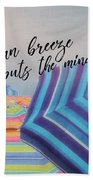Shades Of Summer Quote Beach Sheet