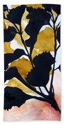 Shadow Hibiscus Beach Towel