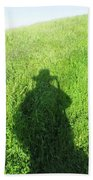 Shadow In The Grass Beach Towel