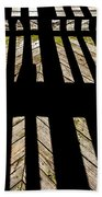 Shadows And Lines - Semi Abstract Beach Towel