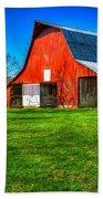 Shadows On The Barn Tennessee Farm Art Beach Towel