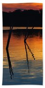 Shallow Water Sunset Beach Towel