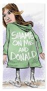 Shame On Trumps Beach Towel