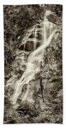Shannon Falls - Bw Beach Towel