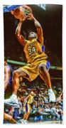 Shaquille O'neal Los Angeles Lakers Oil Art Beach Towel