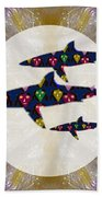 Shark Fish Dangerous Painted Cartoon Face Link For Download Option Below Personal N Commercial Uses Beach Towel