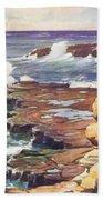 Sharp Rocky Coastline Beach Towel