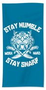 Sharp Tiger Beach Towel