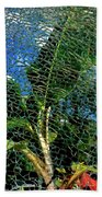 Shattered Plant Beach Towel