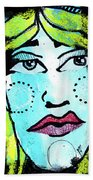 She Was A Handsome Woman Beach Towel
