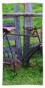 Sheep And Bicycle Beach Sheet
