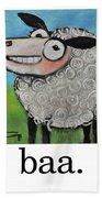 Sheep Poster Beach Towel