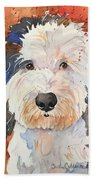 Sheepadoodle Beach Towel
