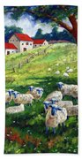 Sheeps In A Field Beach Towel