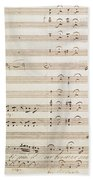 Sheet Music For The Barber Of Seville By Rossini  Beach Towel