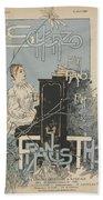 Sheet Music Scherzo Pour Piano Beach Towel