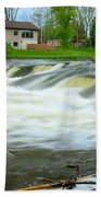 Shell Rock Iowa Dam 2 Beach Towel