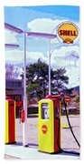 Shell Station Beach Towel