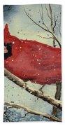 Shelly's Cardinal Beach Towel