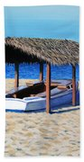 Sheltered Boat Beach Towel
