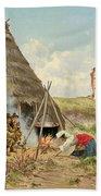 Shepherds Resting In The Roman Campagna Beach Sheet