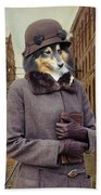 Shetland Sheepdog Art Canvas Print - Charleston Blue Beach Towel