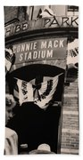 Shibe Park - Connie Mack Stadium Beach Towel by Bill Cannon