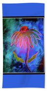 Shimmering Floral Beach Towel