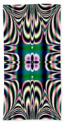 Shimmering Plaid Fractal 66 Beach Towel